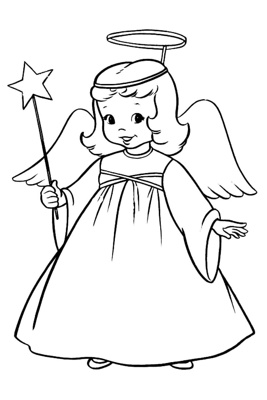 Раскраска Ангелочек