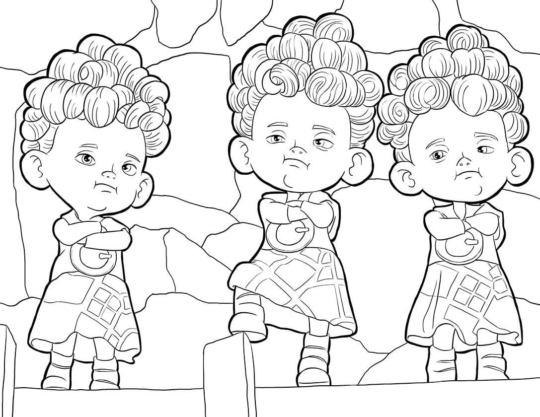 Раскраска Братья тройняшки