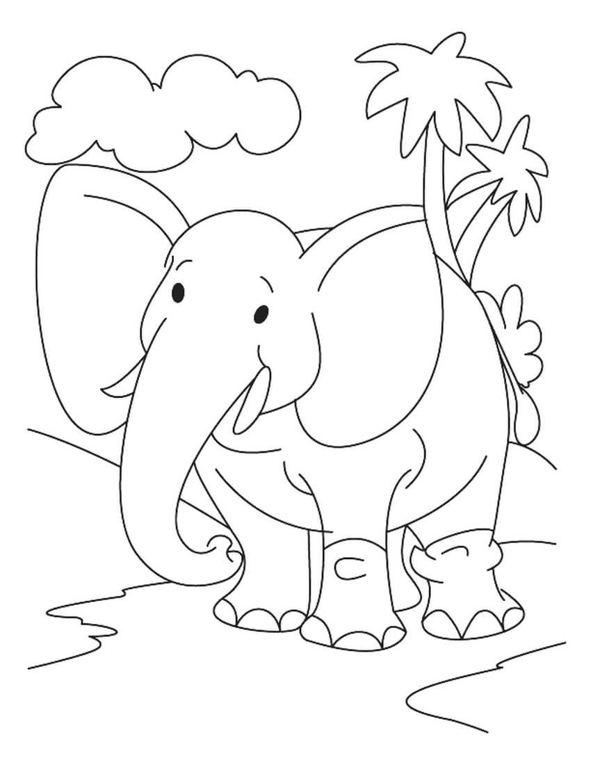 Раскраска Добрый слон