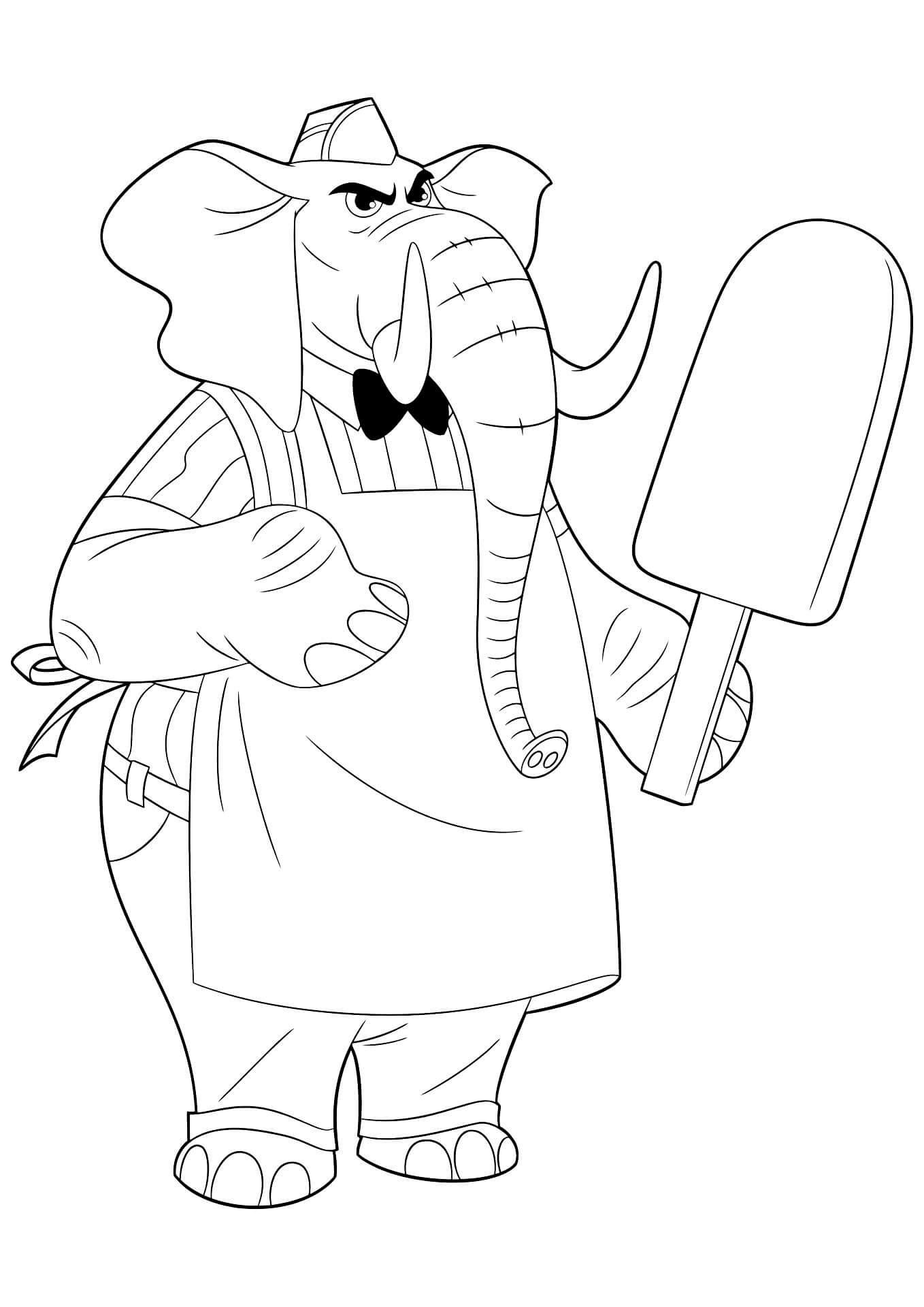 Раскраска Джерри Джамбу и мороженое