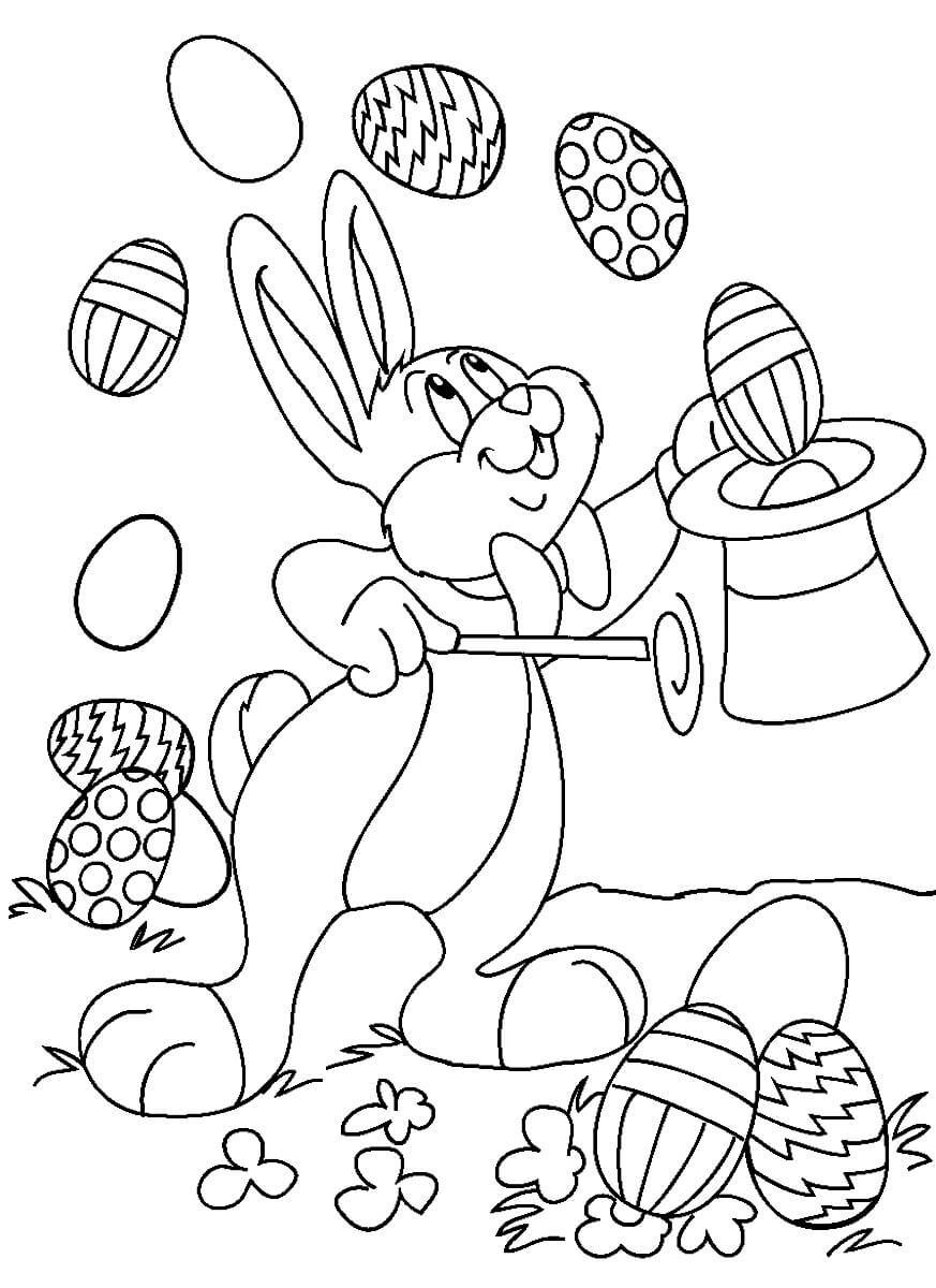 Раскраска Фокусы от кролика