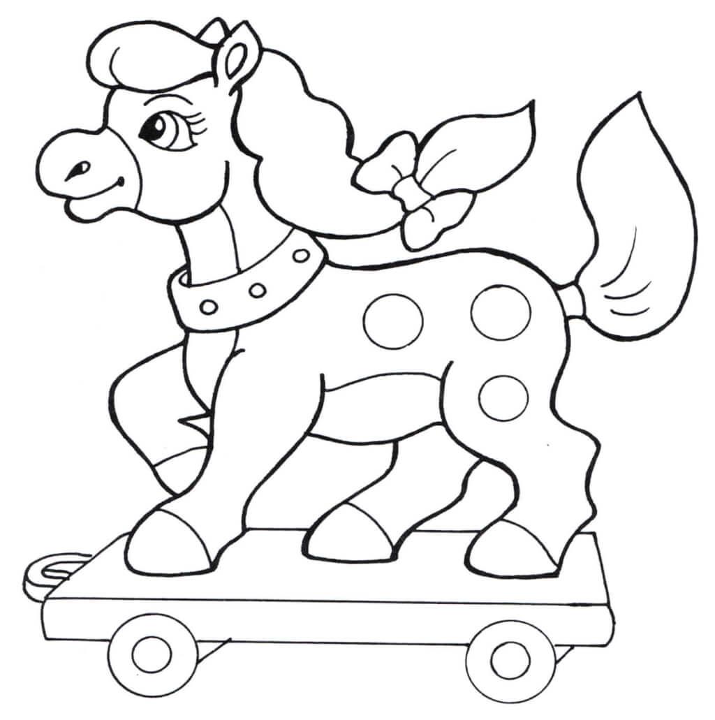 Раскраска «Игрушечная пони»