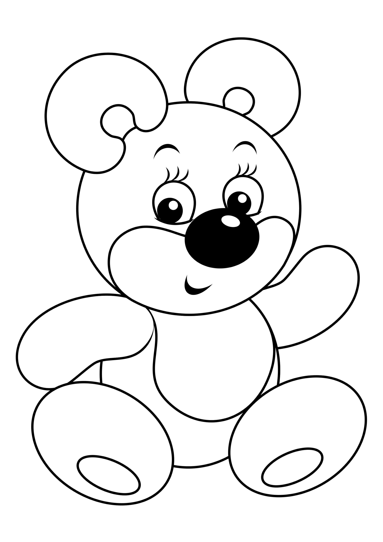 Раскраска Игрушечный мишка
