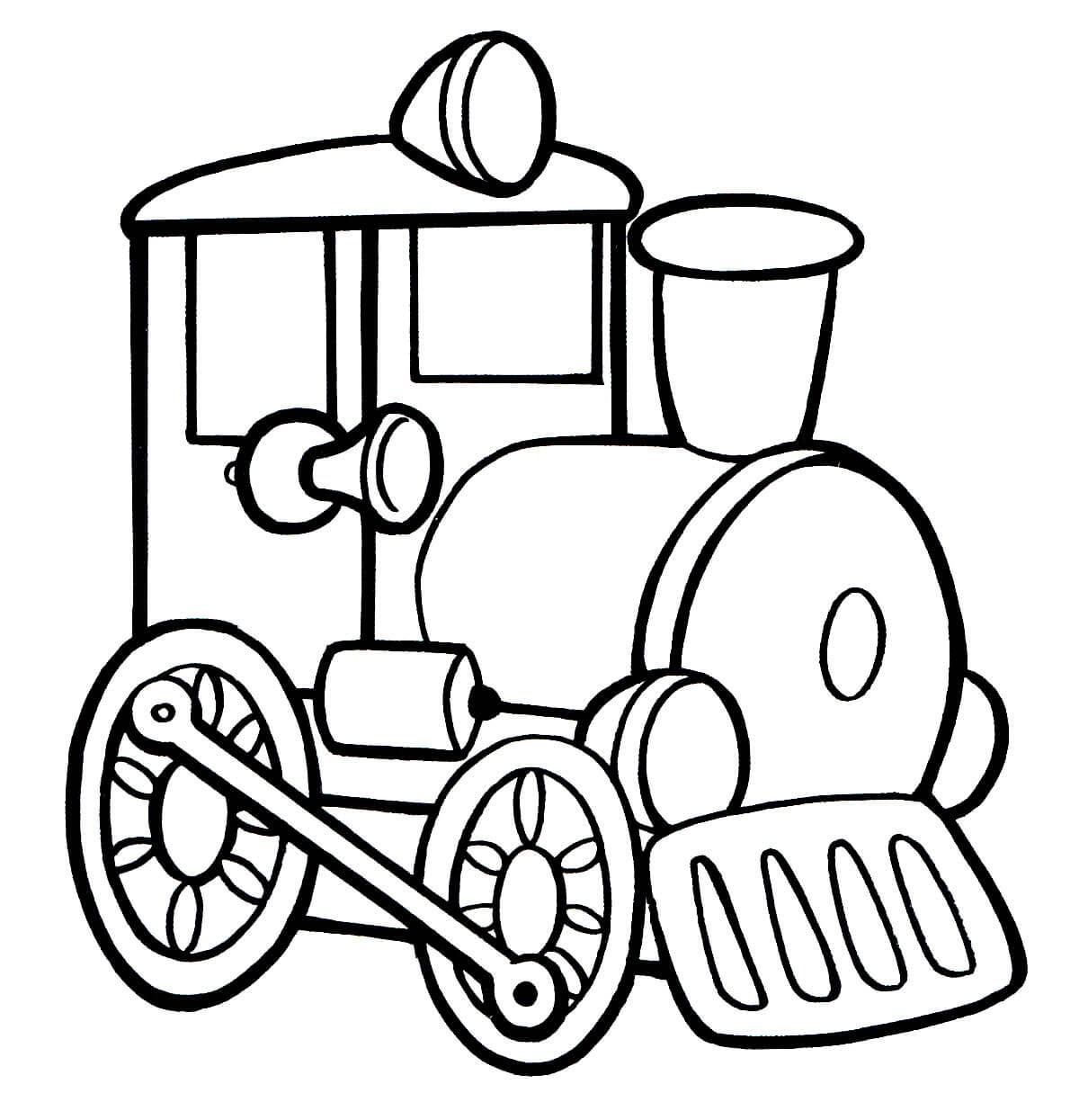 Раскраска Игрушка паровозик