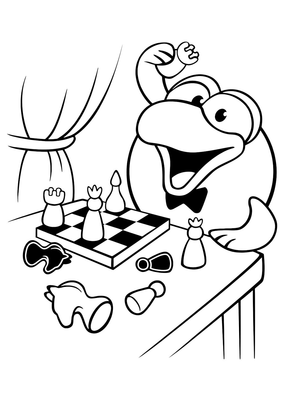 Раскраска «Кар-Карыч играет в шахматы»