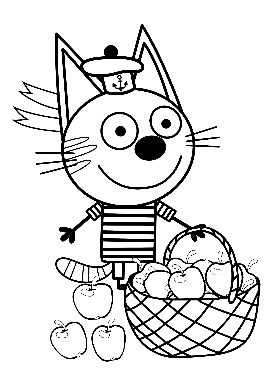 Раскраска Коржик (Три кота)
