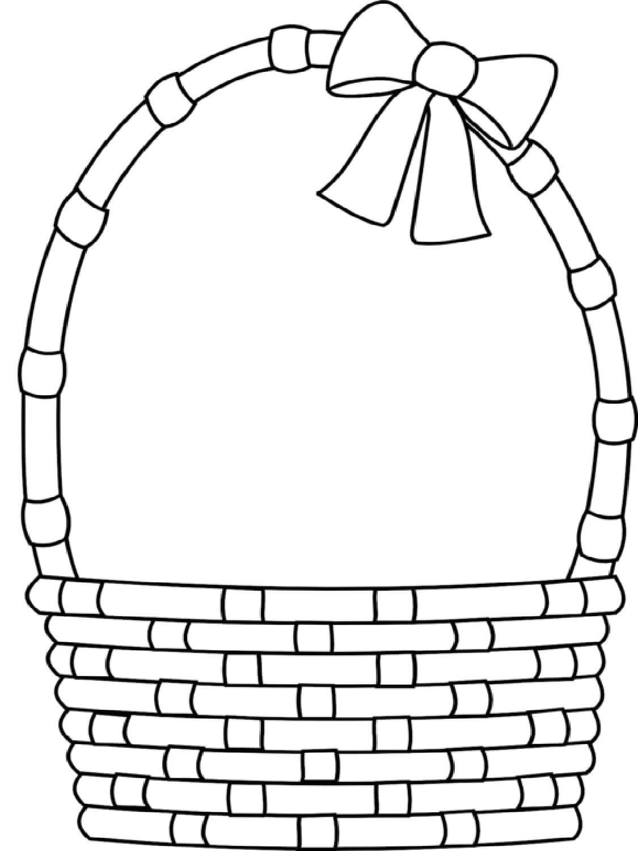 Раскраска Корзинка с бантиком