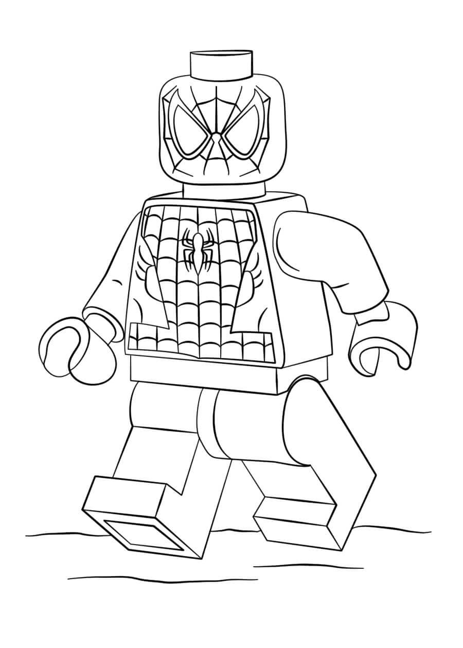 Раскраска Lego Человек-Паук