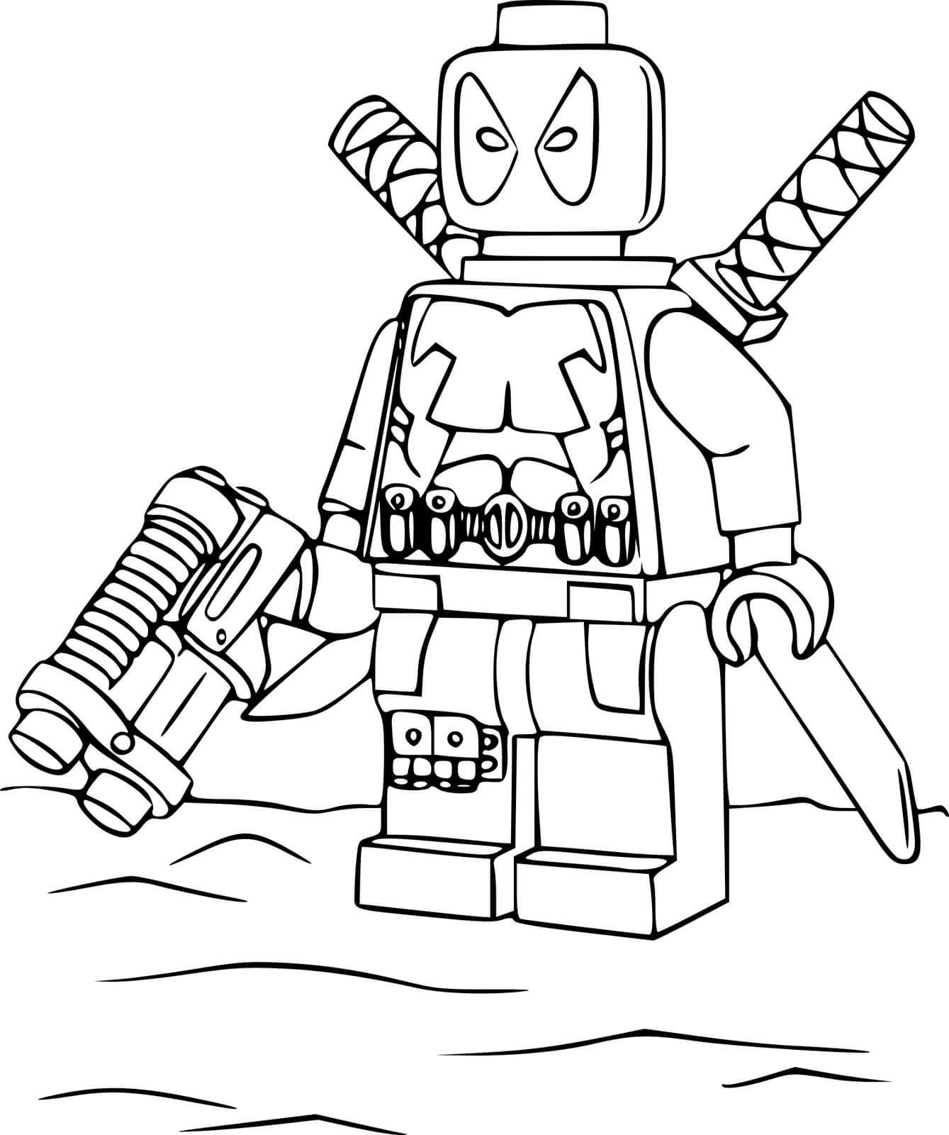 Раскраска Lego - Дэдпул