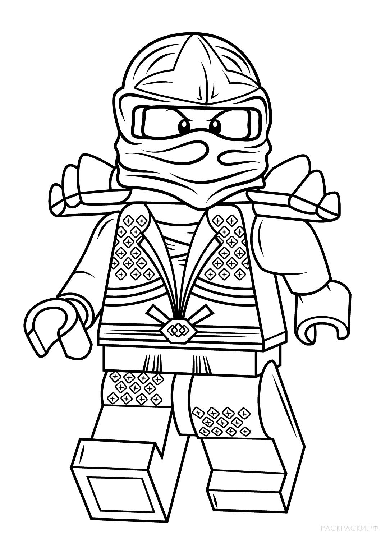 Раскраска Лего Ллойд