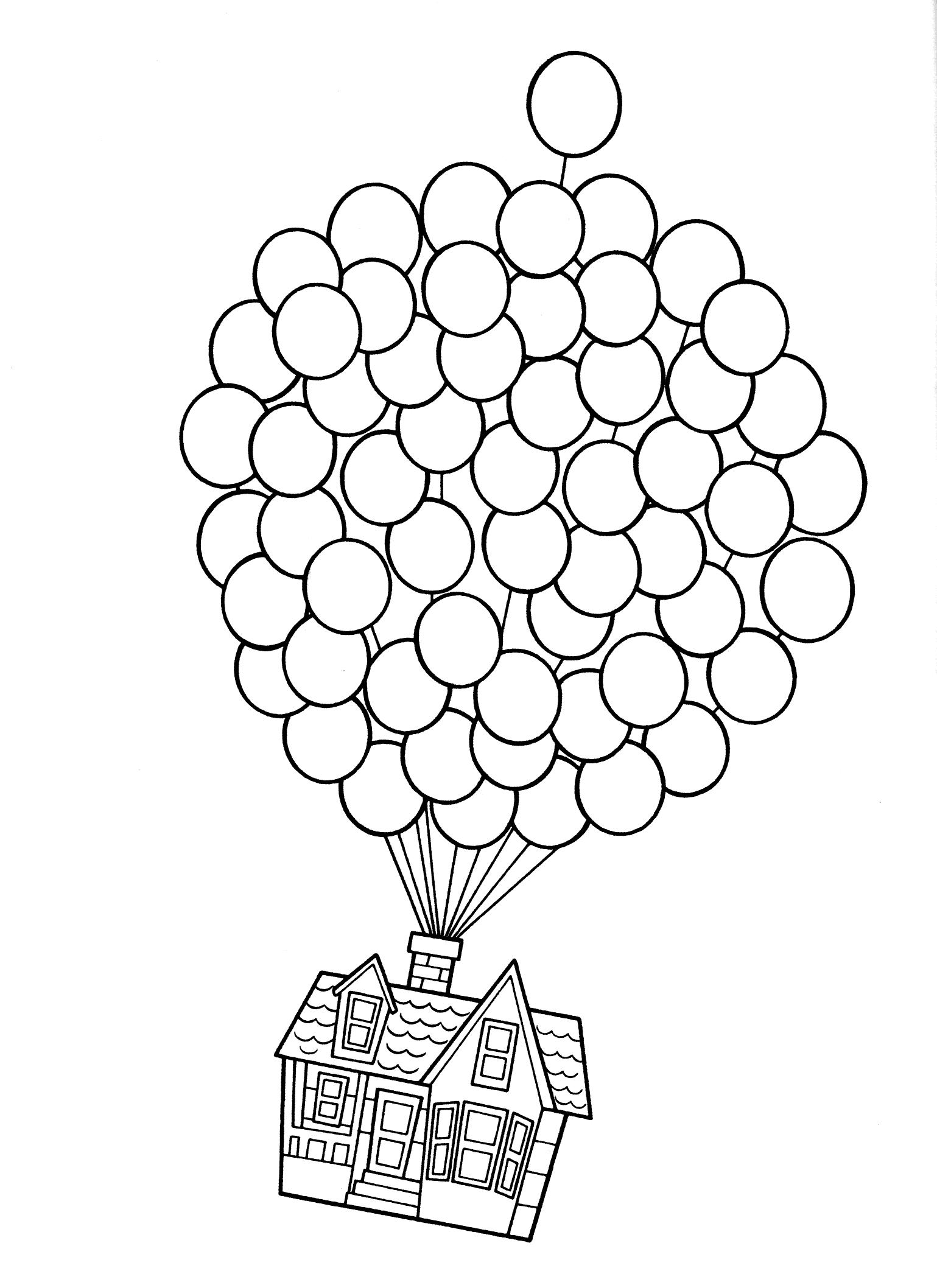 Раскраска Летающий домик