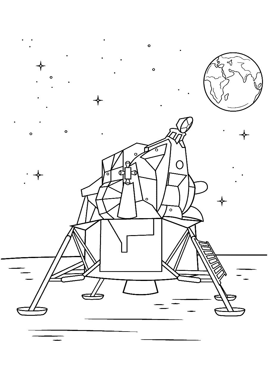 Раскраска Луноход