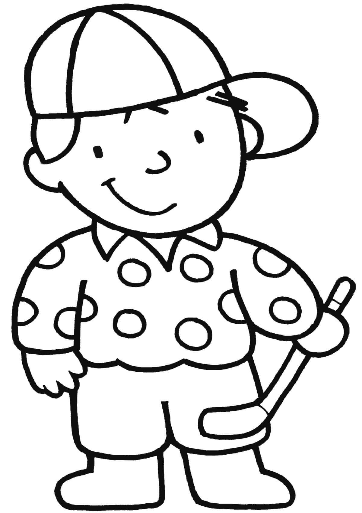 Раскраска Мальчик в кепке