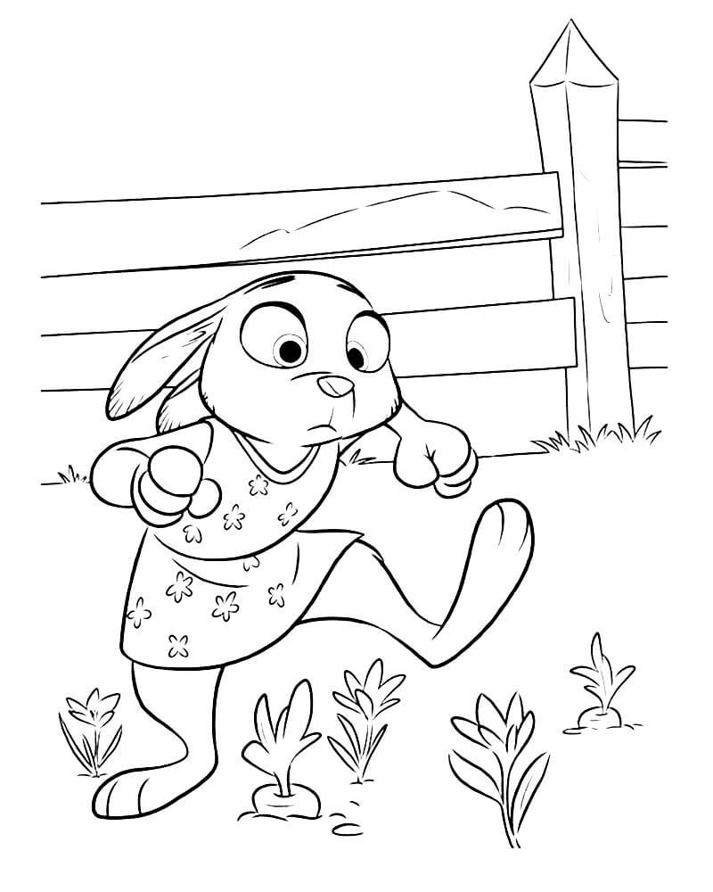 Раскраска Маленькая Джуди Хопс