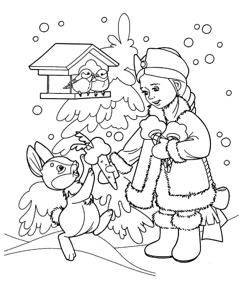 Раскраска Милосердная Снегурочка