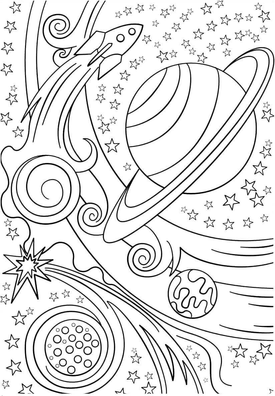 Раскраска Необъятный космос