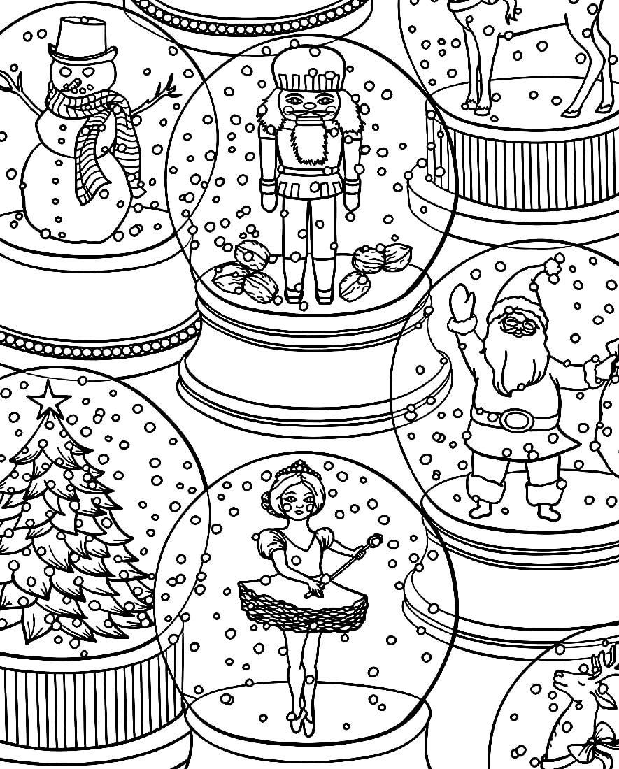 Раскраска Новогодние шарики