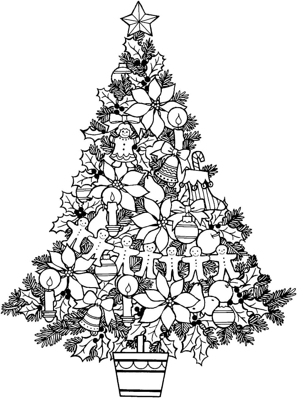 Раскраска Новогодняя ёлочка