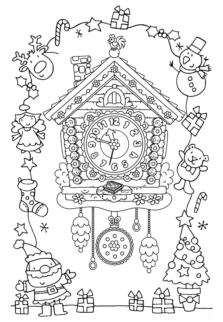 Раскраска Новый год уже близко
