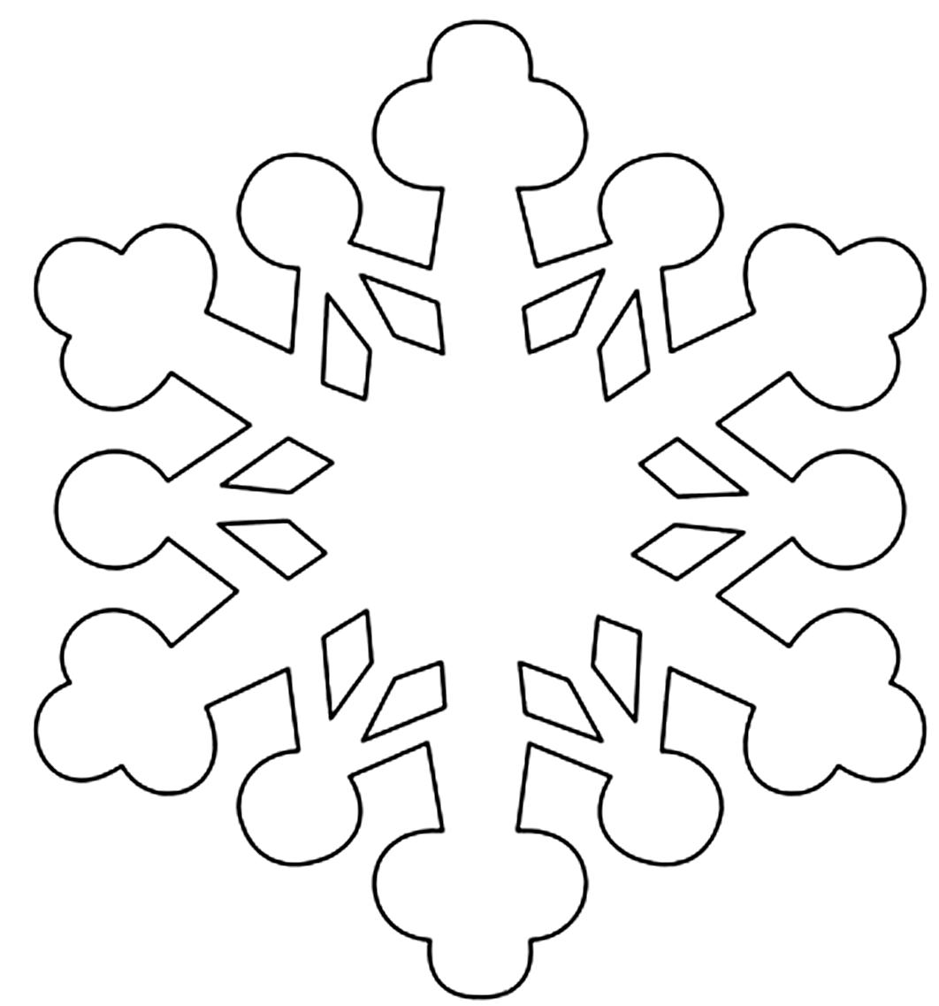 Шаблон для вырезания Округленная снежинка