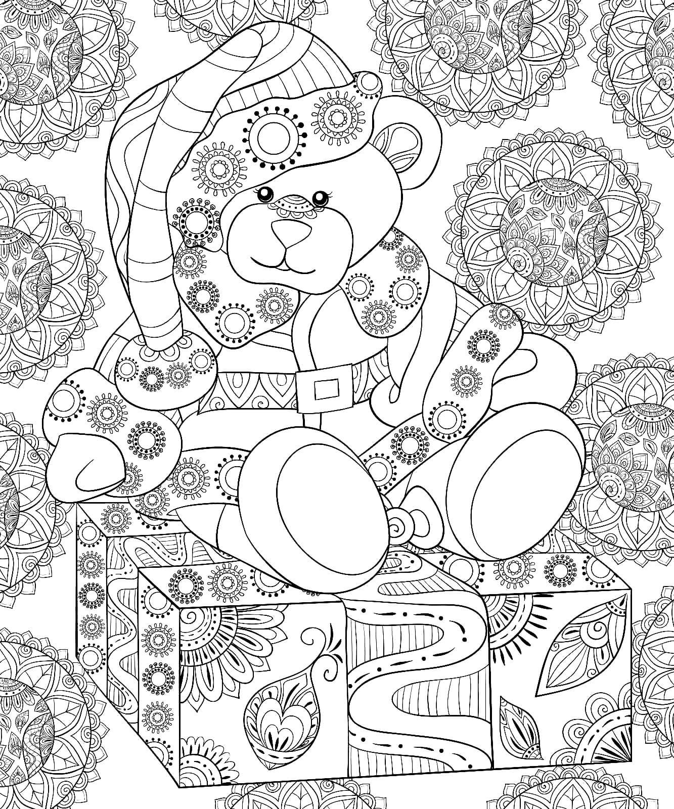 Раскраска Плюшевый медвежонок