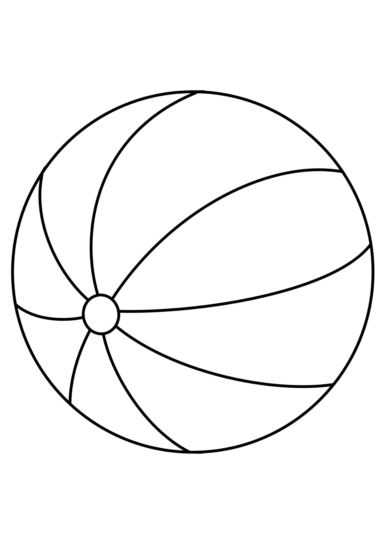 Раскраска Полосатый мячик