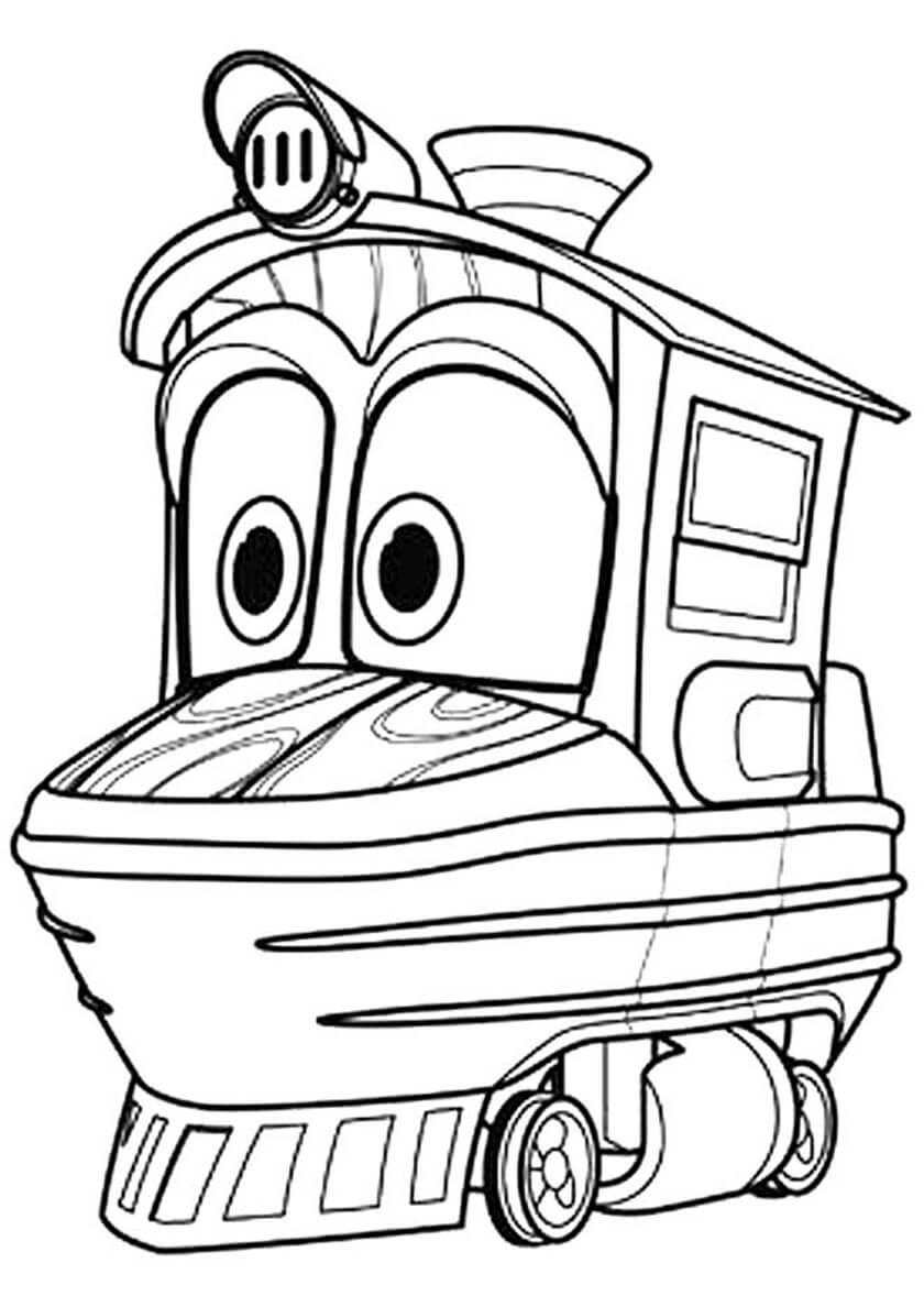 Раскраска Робот-поезд Кей