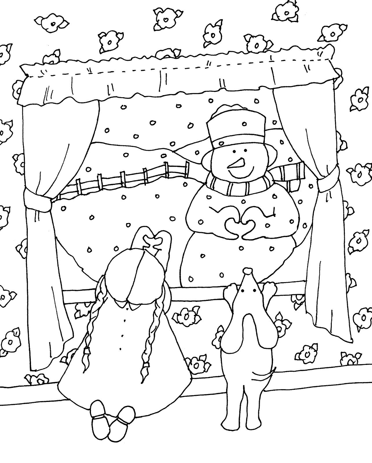 Раскраска Романтичная зима