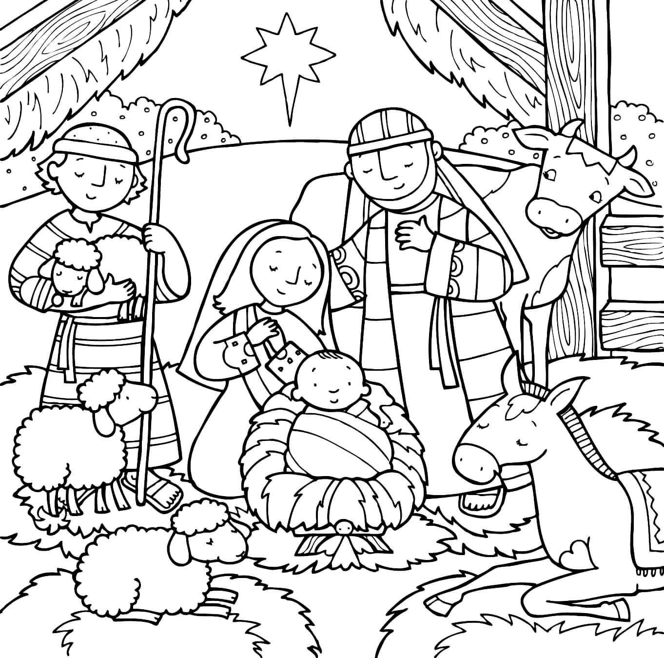 Раскраска Рождество