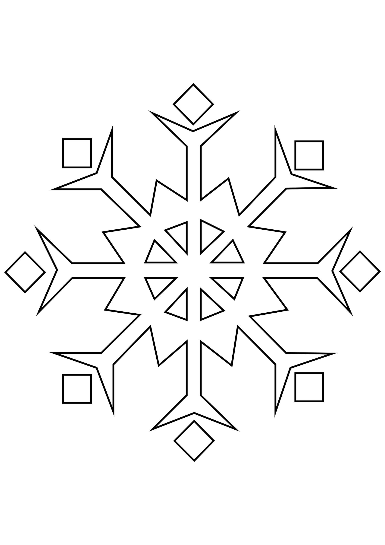 Шаблон для вырезания Своеобразная снежинка