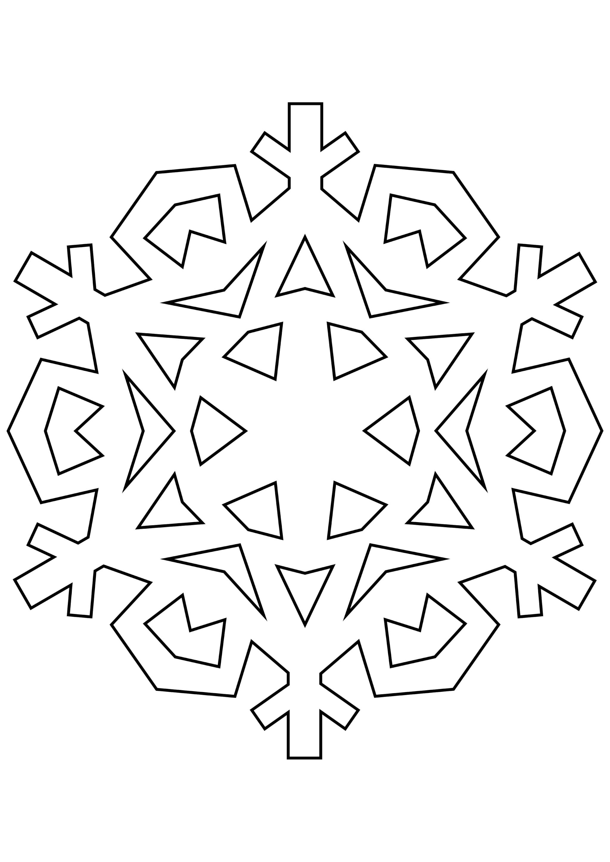 Шаблон для вырезания Снежинка для поделок