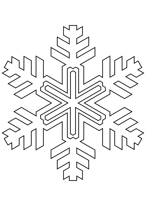 Шаблон для вырезания Причудливая снежинка