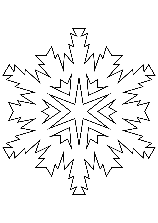 Шаблон для вырезания Незаурядная снежинка
