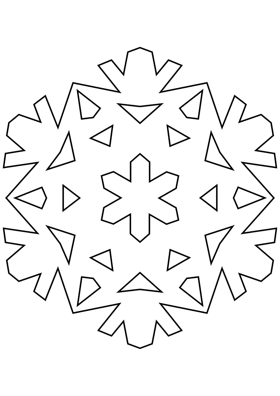 Шаблон для вырезания Необычайная снежинка