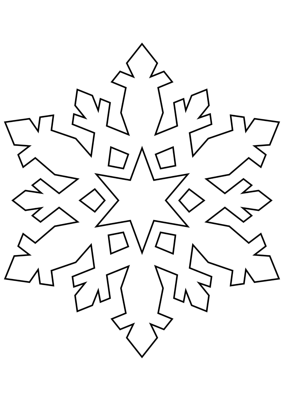 Шаблон для вырезания Снежинка