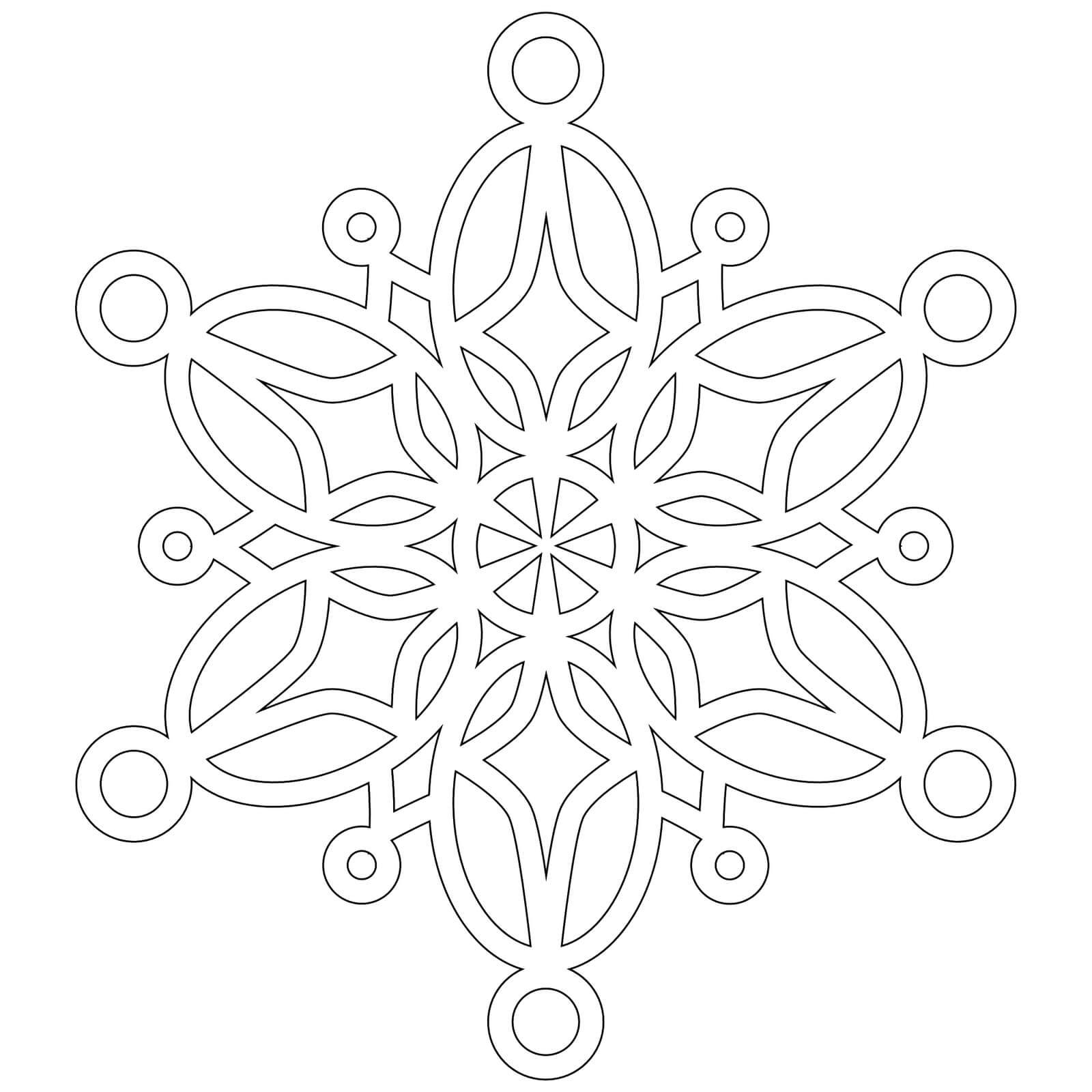 Шаблон для вырезания Снежинка ажурная