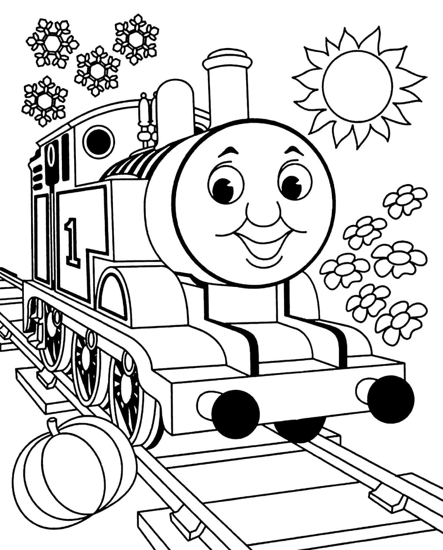 Раскраска Томас и его друзья
