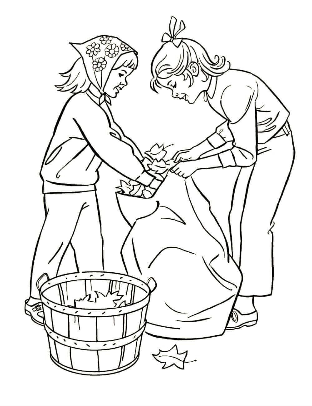 Раскраска Трудолюбивые сестрички