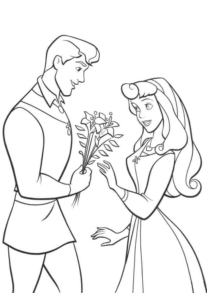 Раскраска Цветы для принцессы