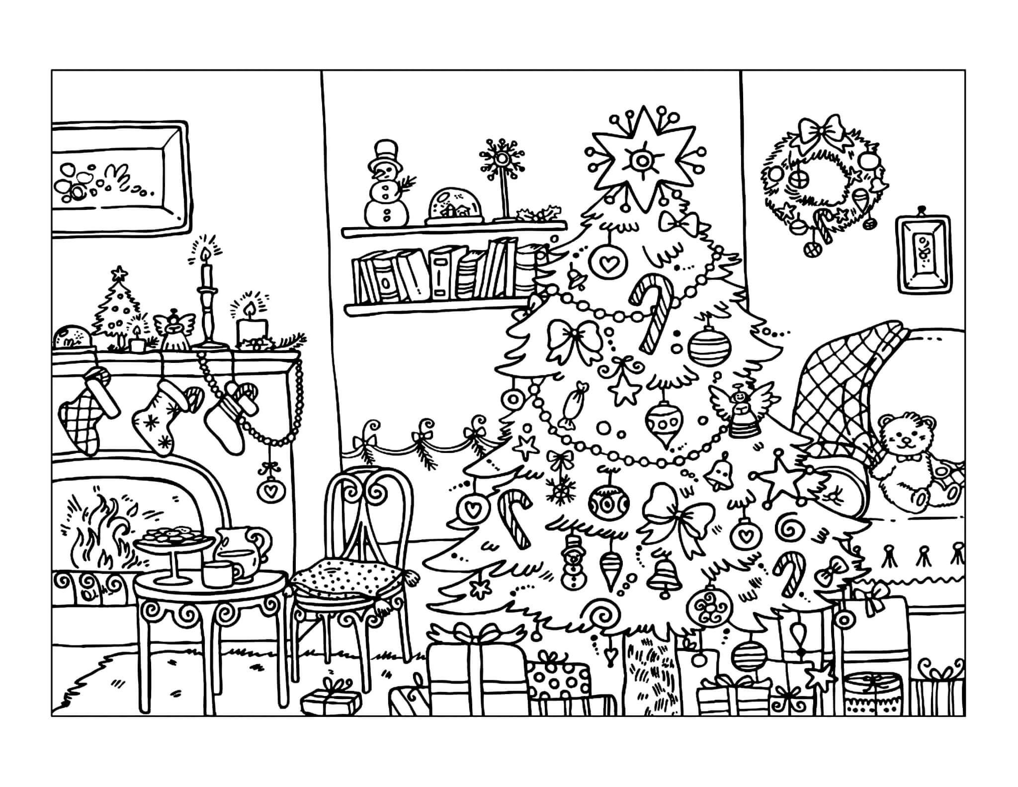 Раскраска Уютный дом