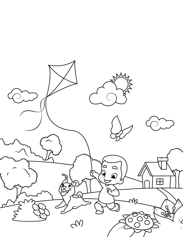 Раскраска Весенние развлечения