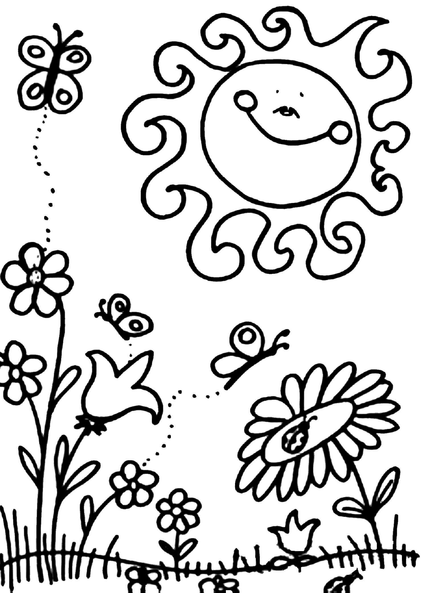 Раскраска Весенняя полянка
