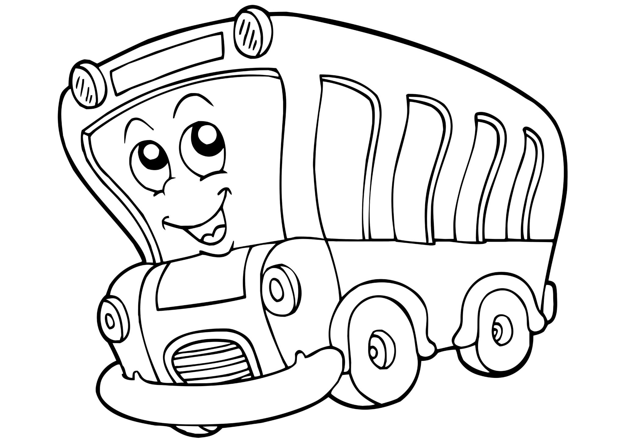Раскраска Весёлый автобус