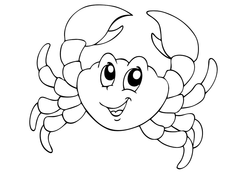 Раскраска «Весёлый крабик»