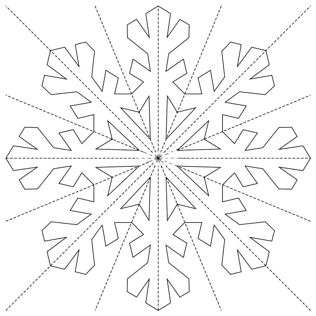 Шаблон для вырезания Вытынанка снежинки