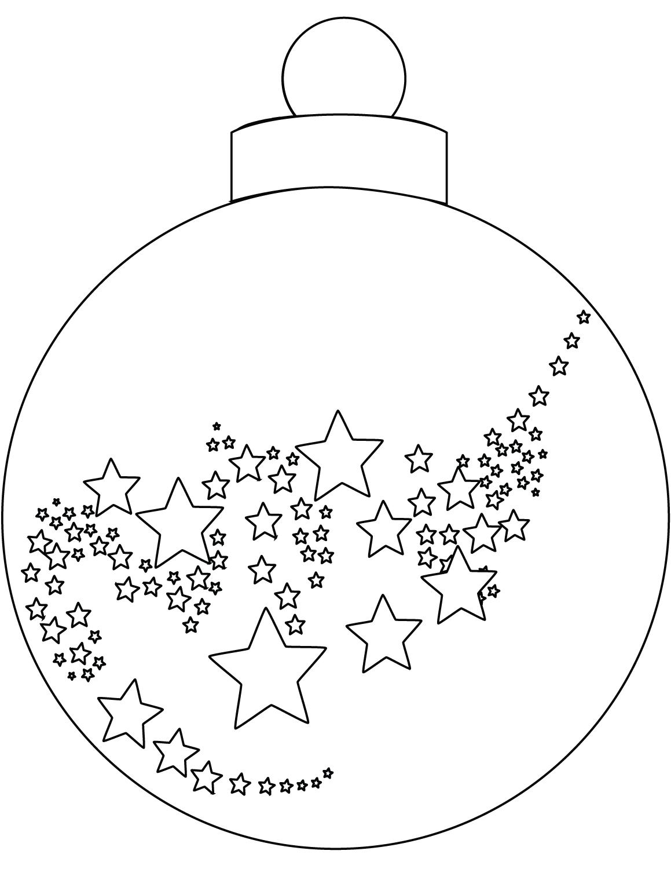 Раскраска Ёлочный шарик
